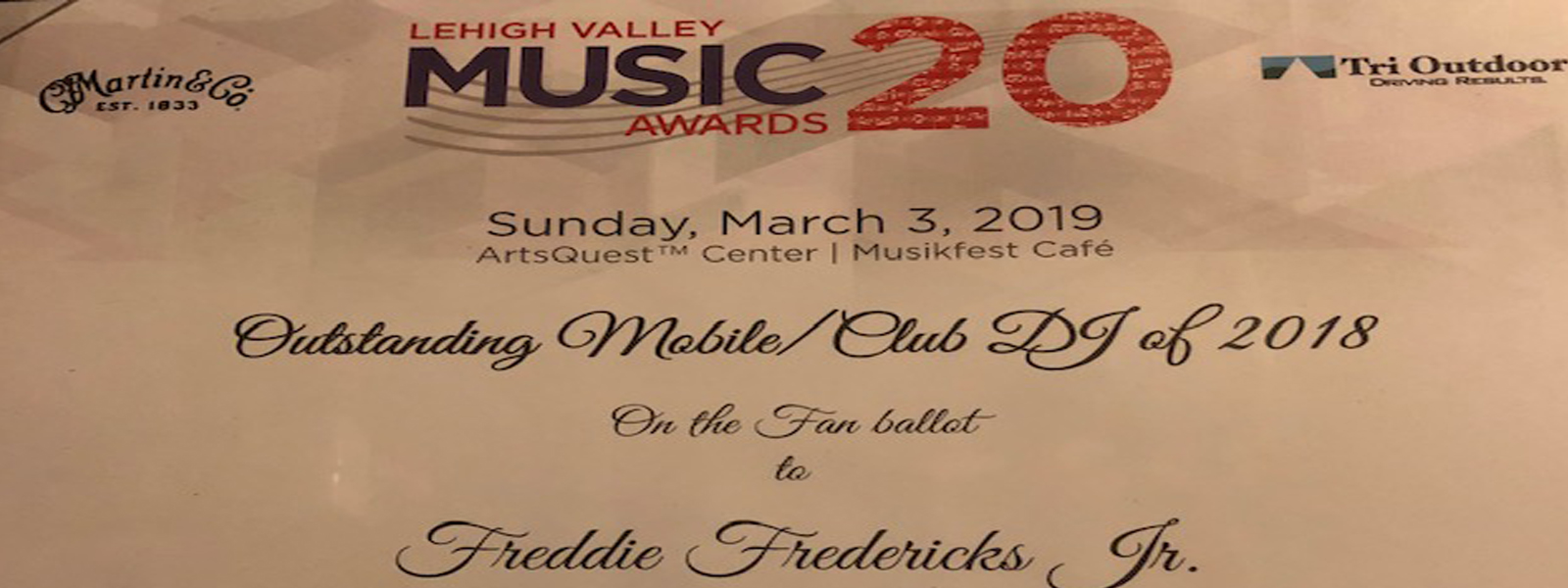 Voted Lehigh Valley's Mobile Club Dj of 2016, 2017 and 2018,